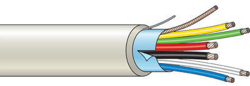 Kombinovaný kabel stíněný 6 žílový - lanko (100 m)