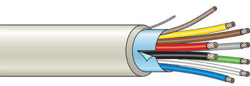 Kombinovaný kabel stíněný 8 žílový - lanko (100 m)