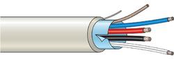 Kombinovaný kabel stíněný 4 žílový - lanko (100 m)