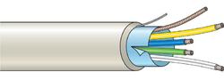 Stíněný kabel 4 žílový - lanko (100 m), (4x0,22 mm2)