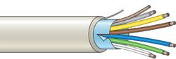 Stíněný kabel 6 žílový - lanko (100 m), (6x0,22 mm2)