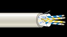 Stíněný kabel 4 žílový - drát (100 m), (4x0,22 mm2)