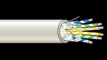 Stíněný kabel 20 žílový - drát (100 m), (20x0,22 mm2)