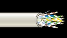 Stíněný kabel 8 žílový - drát (100 m), (8x0,22 mm2)