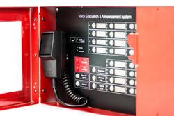 Požární EVAK mikrofon (červený) se 16 tlačítky, montáž n - 2