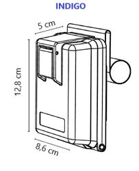 Klíčový trezor INDIGO pro pevnou montáž bez zámku - 2