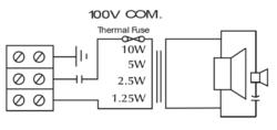 Skříńkový dvoupásmový reproduktor, 330x240x90 mm, 10/5/2.5/1.25 W / 100 V, 80 - 20.000 Hz, IP21, keramická svorkovnice - 2