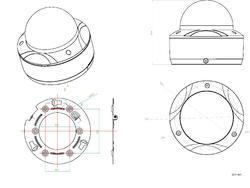 TruVision IP Mini Dome Camera, H.265/H.264, 3.0MPX , 2.8 - 2