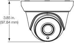 TruVision HD-TVI Analog Turret Camera, 5MPx, 2.8mm lens, - 2