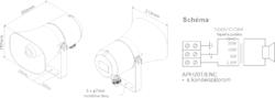 Amplión, plast, ø203x254 mm, 20/10/5/2,5 W / 100 V, 250- - 2