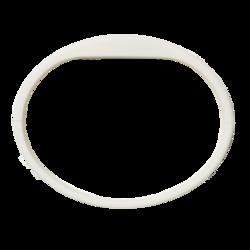 Silikonový náramek v bílé barvě (5ks v balení) (ATS1458W) - 2