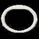 Silikonový náramek v bílé barvě (5ks v balení) (ATS1458W) - 2/2