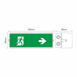 Stálé/dočasné nouzové světlo s auto-testem 150/160lm, výdrž 3hodiny - 2