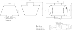 Projektor obousměrný, kov, ø140x196 mm, 20/10/5/2,5 W / - 2