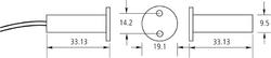 Magnetický kontakt zapuštěný, pracovní mezera 12mm - 2