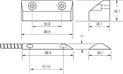 Magnetický kontakt, montáž na brány, pracovní mezera 75m - 2