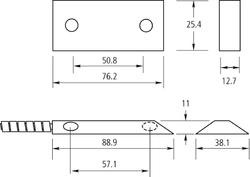 Polarizovaný magnetický kontakt na brány, přepínací kontakt - 2