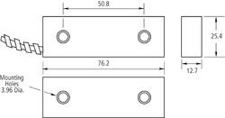 Magnetický kontakt na brány, vyvážený, polarizovaný - 2