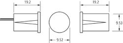 Magnetický krátký zápustný magnet 9 x 19 mm - 2