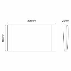 Stálé / dočasné LED nouzové světlo s auto-testem 125/125lm, výdrž 2-7 hod., IP40 - 2