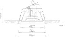 Stropní kovový reproduktor, ø189 / 110 mm, 6/4/2/1/0,5/0 - 2