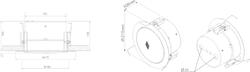 Stropní kovový reproduktor, ø215 /106 mm, 6/3/1,5/0,75/0 - 2