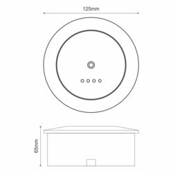 Dočasné nouzové světlo pro otevřené vnější prostory s auto-testem 330ml, výdrž 3 hod. - 2