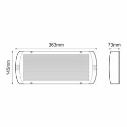 Stálé nouzové světlo s auto-testem 245/480lm, výdrž 3 hod. -  GR-939/6P - 2