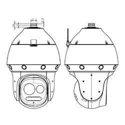 IP panoramatická PTZ kamera 180° řady Super Starlight - 3