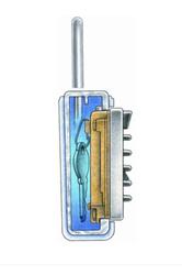 Klíčový trezor s montáží na dveře/zárubně - StrongBox pro 3 klíče - Šedá - 3