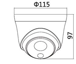 Dome kamera, 5MP, Starlight, 2,8 mm, POE, IR - 3