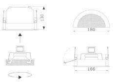 Stropní kovový reproduktor, ø180 /130 mm, konstrukce ø13 - 3