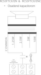 Stropní reproduktor dvojpásmový, ø189 / 110 mm, 10/5/2,5 - 3