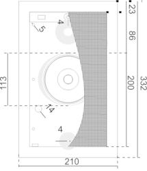 Nástěnný dizajnový plastový reproduktor, 330 x 209 x 84 - 3