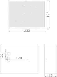 Nástěnný Skříńkový MDFreproduktor, 253 x 193 x 83 mm, ko - 3