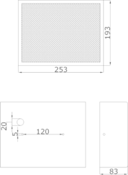 Skříńkový MDF, A/B reproduktor, 253 x 193 x 83 mm, konst - 3