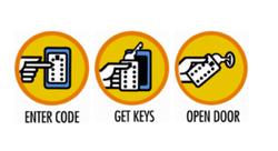 Klíčový trezor s montáží na dveře/zárubně - StrongBox pro 3 klíče - Šedá - 4