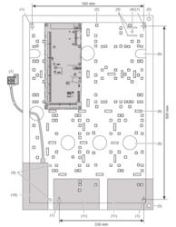 Inteligentní DGP 4 - 8 dveří, Ethernet, 8-32 vstupů, 4-16 (68) výstupů, 2 x RS485 pro 32 x ATS RAS / OSDP2 / bezdr. zámky, 65k uživatelů, 2 režimy: standardní (jako ATS125x) / rozšířený (8 dveří, konfig. s ATS8600 / C4), zdroj 13,8 Vss, 409 x 593 x 112 mm - 4